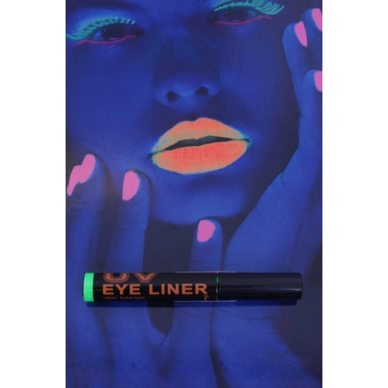 Groene eyeliner UV licht