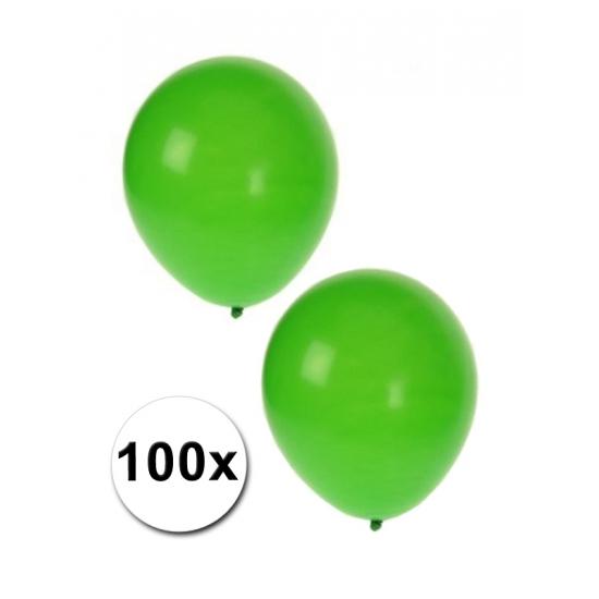 Groene party ballonnen 100 st
