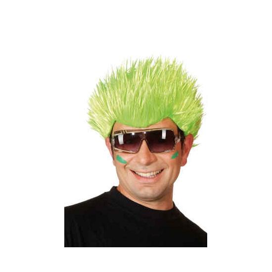 Groene pruik voor volwassenen