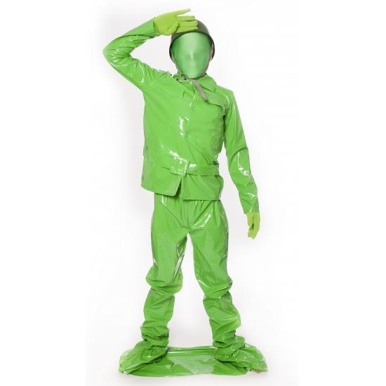 Groene soldaat kostuum kids