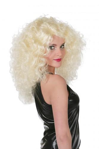 Grote blonde krullen pruik voor dames