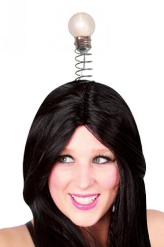 Haarband met gloeilamp LED