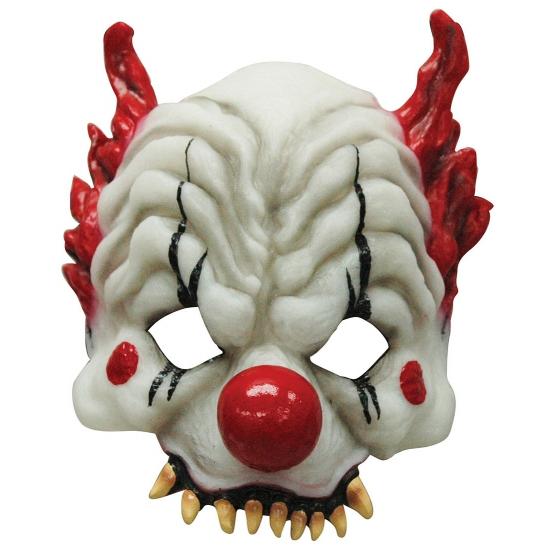 Half gezichtsmasker horror clown