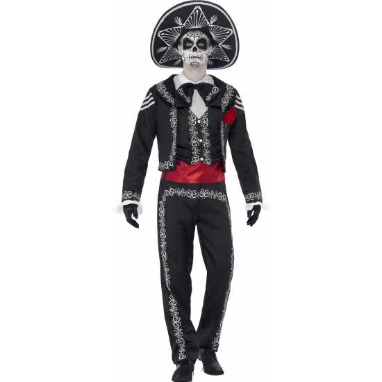 Halloween Day of the dead Senor Bones kostuum