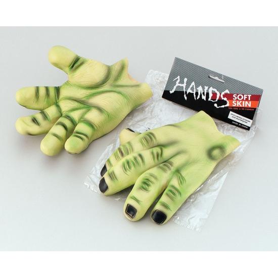 Halloween Gigantische groene latex handen