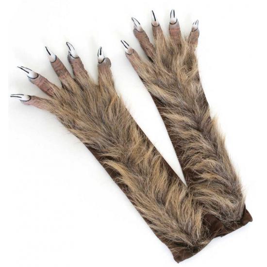 Halloween handschoenen weerwolf