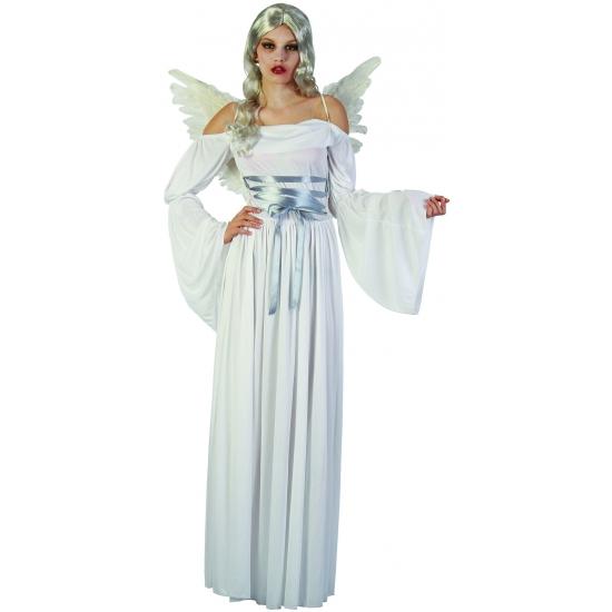 Witte lange jurk met lange mouwen
