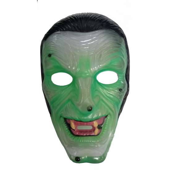 Halloween masker groene heks