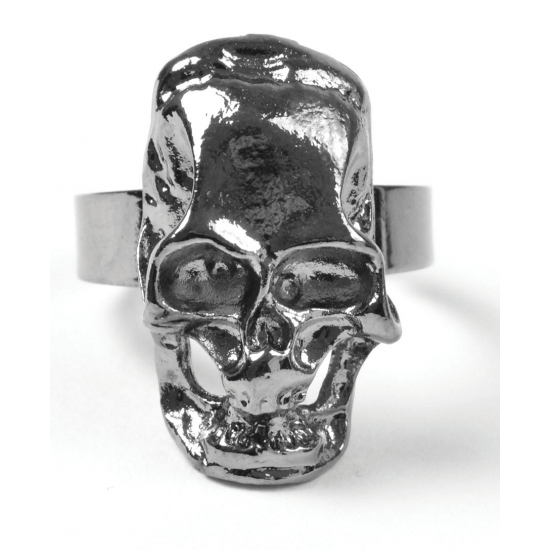Halloween Piraten ring met schedel