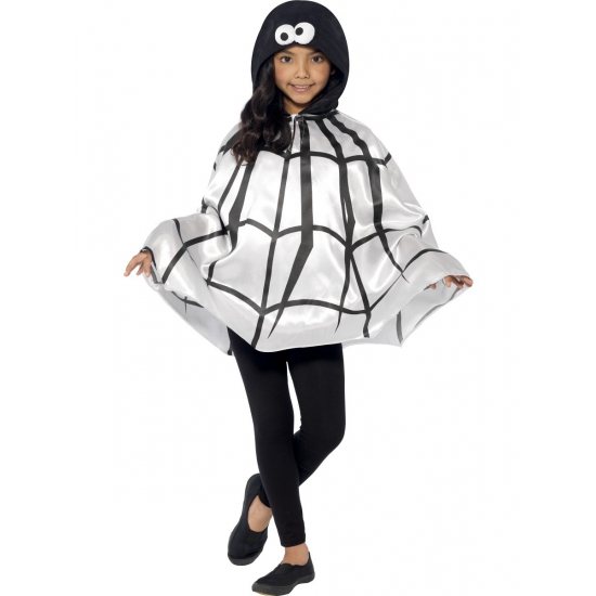 Halloween Spinnen cape voor kinderen