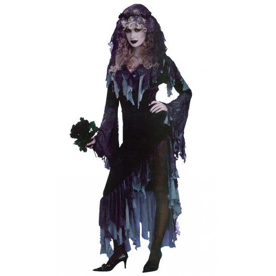 Halloween zombie bruid kostuum