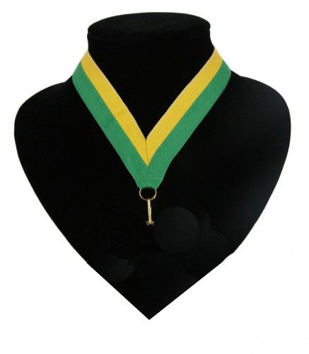 Halslint groen en geel