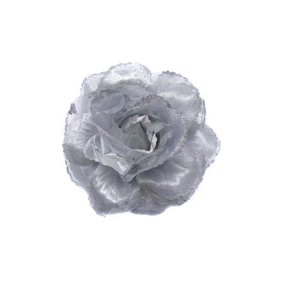 Hawaii accessoire zilveren bloem