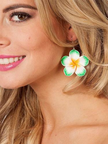 Hawaiiaanse groene oorbellen