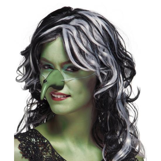 Heksen neus groen met elastiek