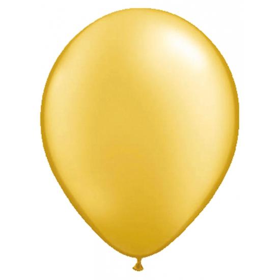 Helium ballonnen goud metallic 50 stuks