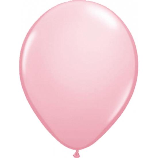 Helium ballonnen lichtroze 50 stuks
