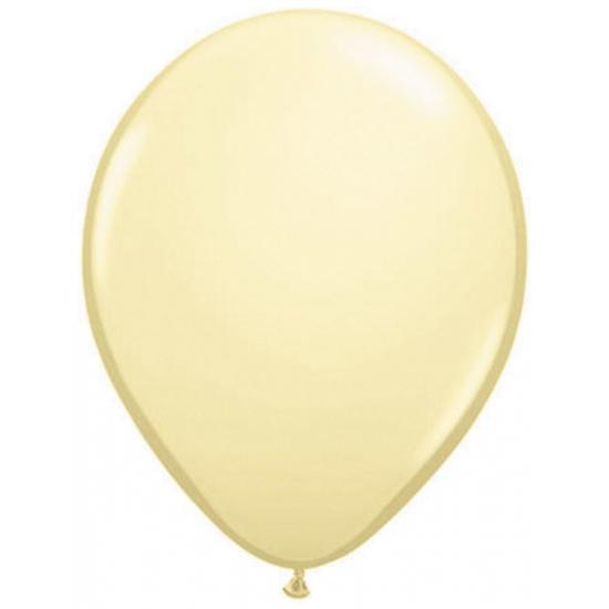 Helium ballonnen metallic ivoor 50 stuks