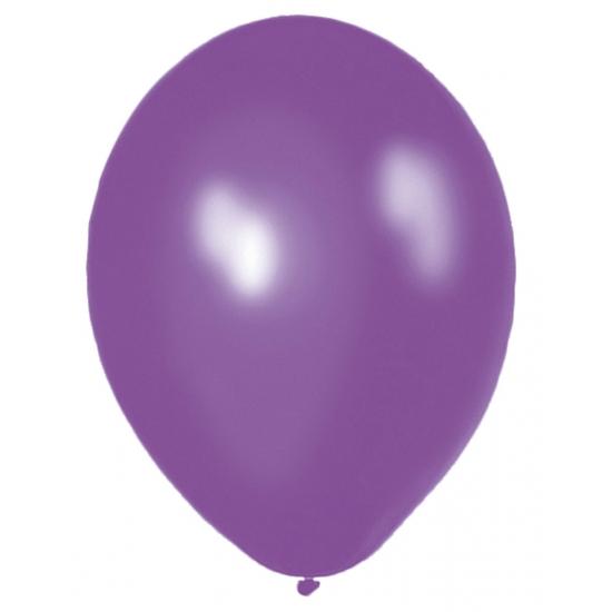 Helium ballonnen paars 50 stuks