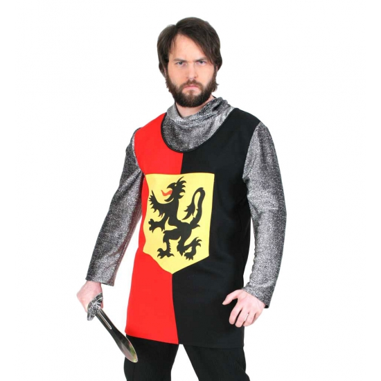 Heren ridder shirt met leeuw