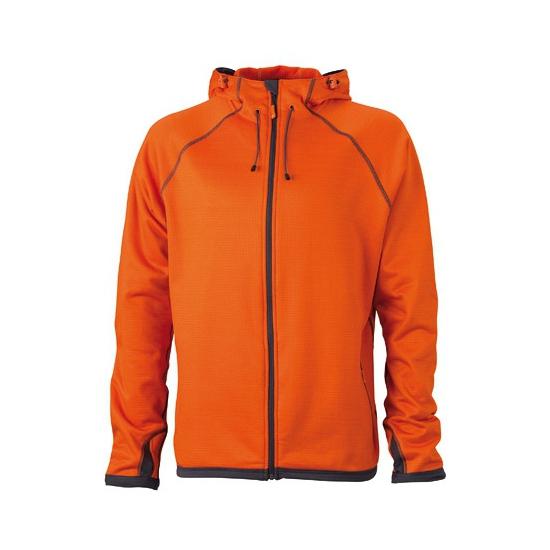 Herenkleding oranje fleece jas