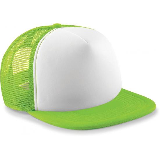 Hip hop baseballcap lime voor volwassenen