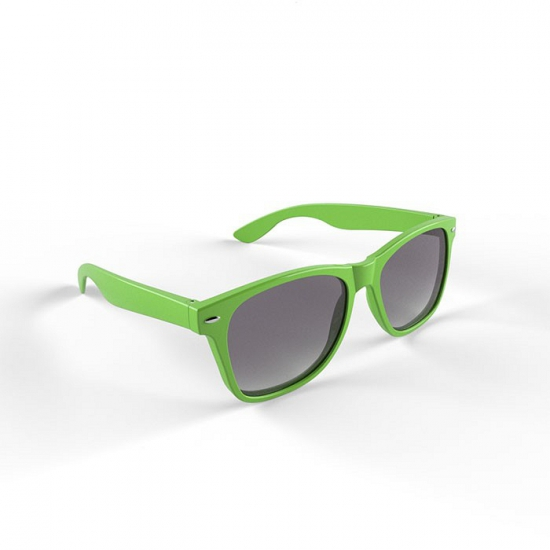 Hippe zonnebril lime groen montuur