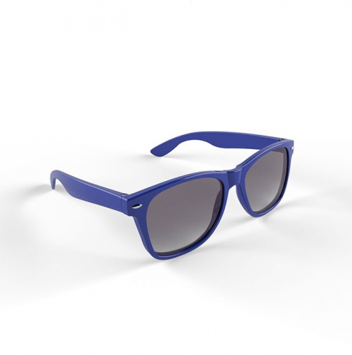 Hippe zonnebril met blauw montuur