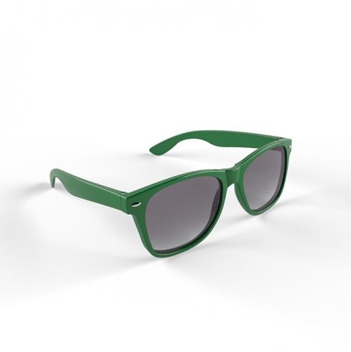 Hippe zonnebril met groen montuur