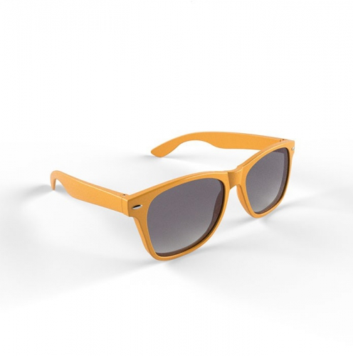 Hippe zonnebril oranje montuur