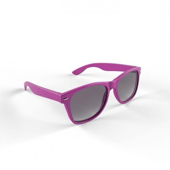 Hippe zonnebril paars montuur