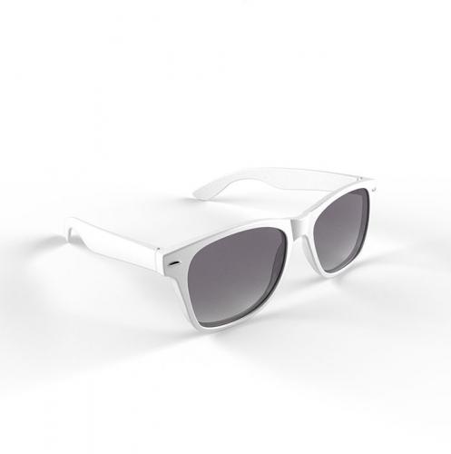 Hippe zonnebril wit montuur