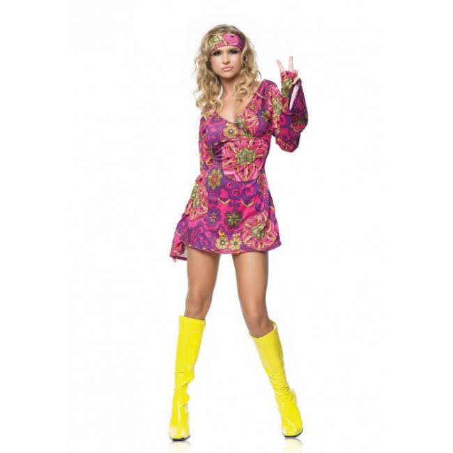 Hippie jaren 60 kostuum voor dames
