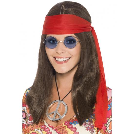 Hippie pakketje met pruik voor dames