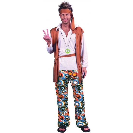 Hippie peace pak voor heren
