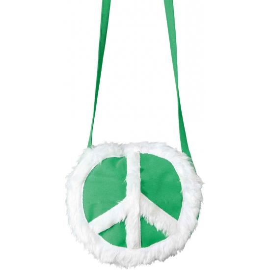 Hippie schoudertas groen