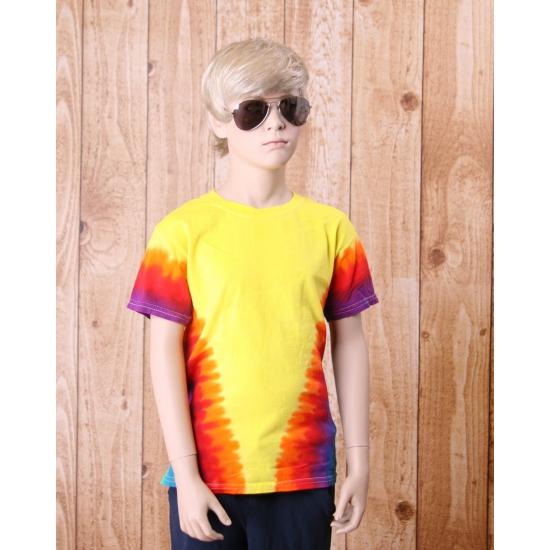Hippie verkleedkleding shirt V print