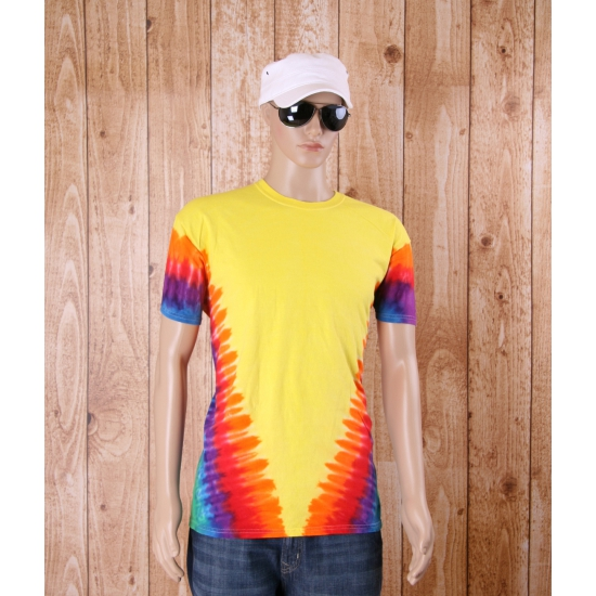 Hippie verkleedkleding shirt yellow