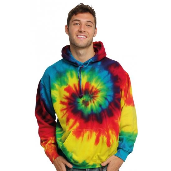 Hippie verkleedkleding trui rainbow