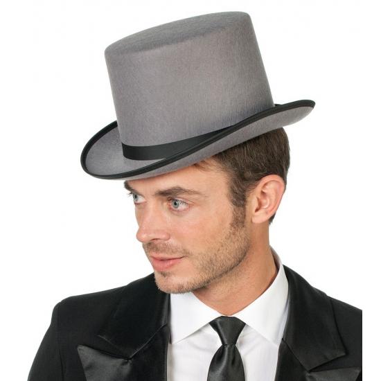 Hoge grijze hoed volwassenen