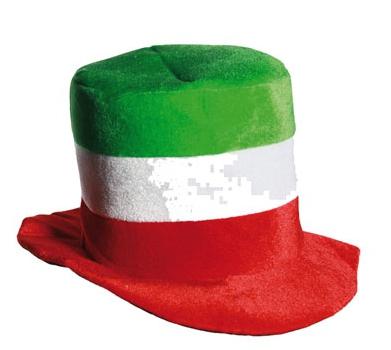 Hoge hoed met Italiaanse vlag