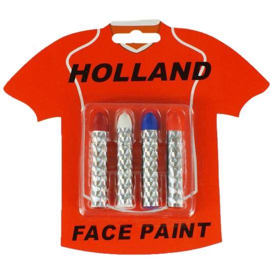 Holland schmink krijtjes 4 kleuren