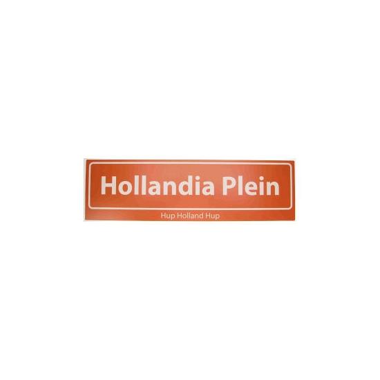 Hollandia Plein straatbord Hup Holland Hup