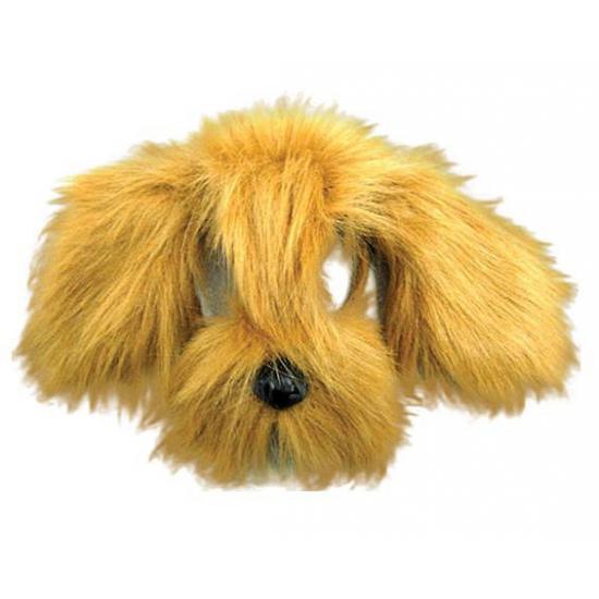 Honden maskers met bruine vacht