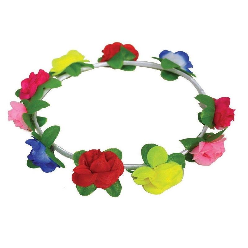 Hoofdband met gekleurde bloemetjes