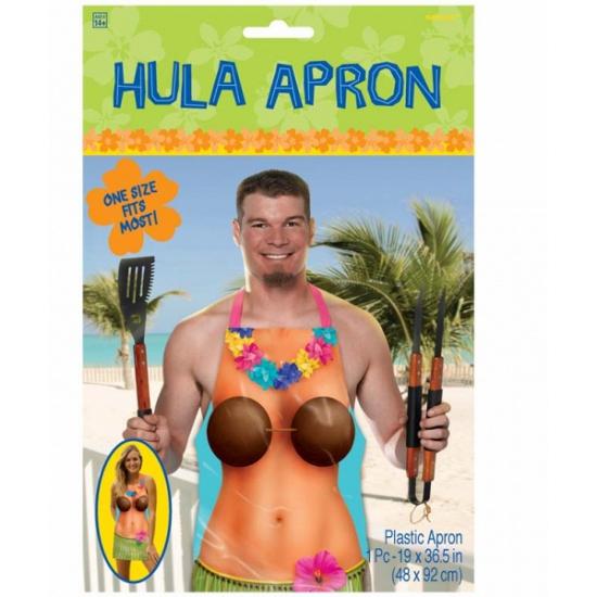 Hula schort met tropische dame