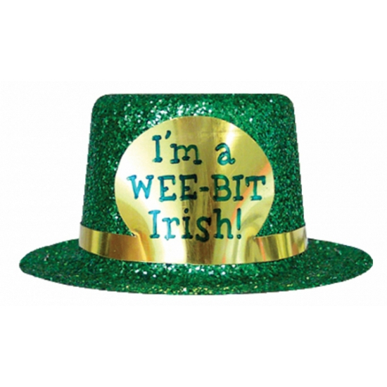 I am a wee bit Irish glitter hoedje
