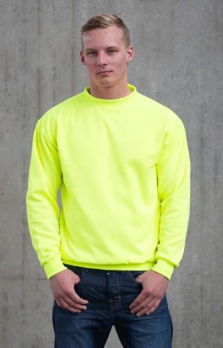 Just Hoods neon gele trui voor heren