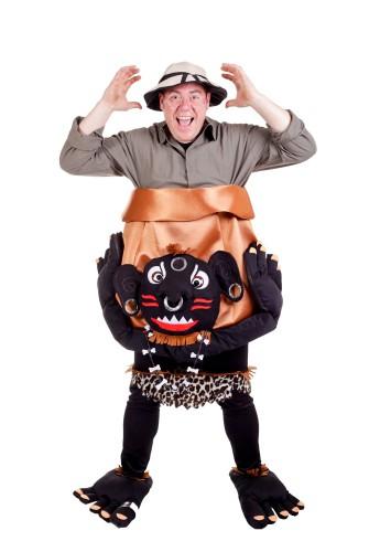 Kannibaal met pot kostuum