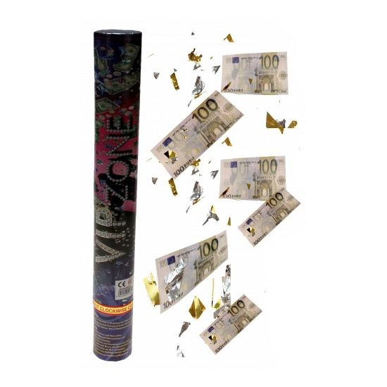 Kanon met euro confetti 40 cm